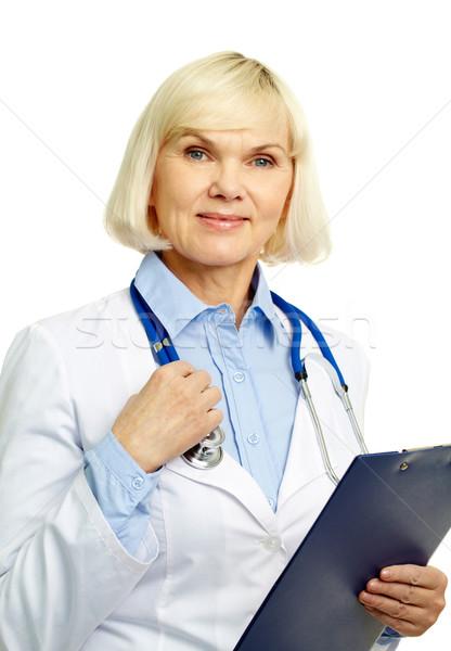 Udany lekarz portret kobiet lekarza patrząc Zdjęcia stock © pressmaster
