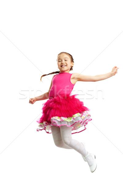 Energic fată portret drăguţ fetita Imagine de stoc © pressmaster