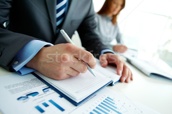 Stock photo: Preparing report