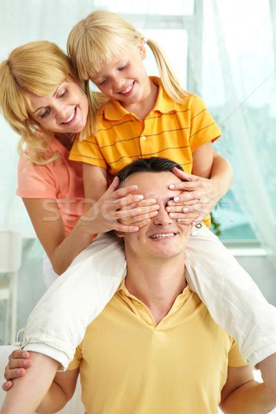 играет отец портрет женщину девушки Сток-фото © pressmaster