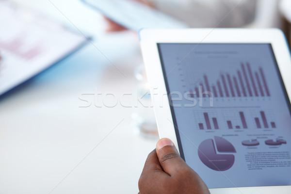 Touchpad Geschäftsmann Hände Business Hand Stock foto © pressmaster
