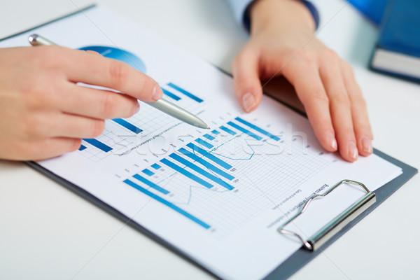 Printed statistics Stock photo © pressmaster
