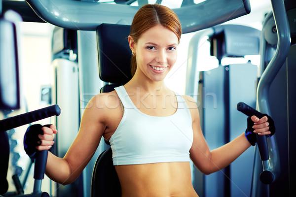 Girl in gym Stock photo © pressmaster