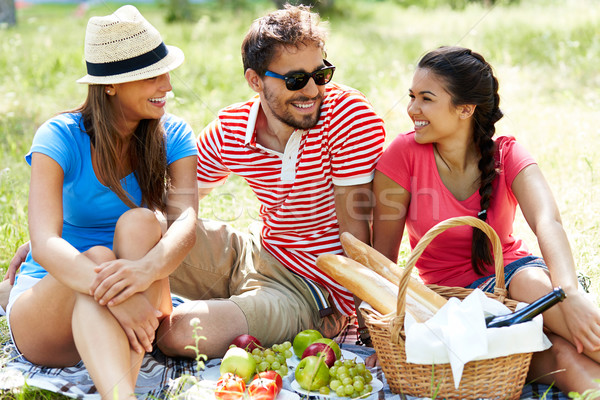Friends on picnic Stock photo © pressmaster