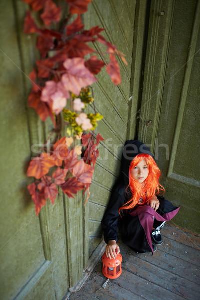 мрачный сцена портрет Хэллоуин девушки Сток-фото © pressmaster