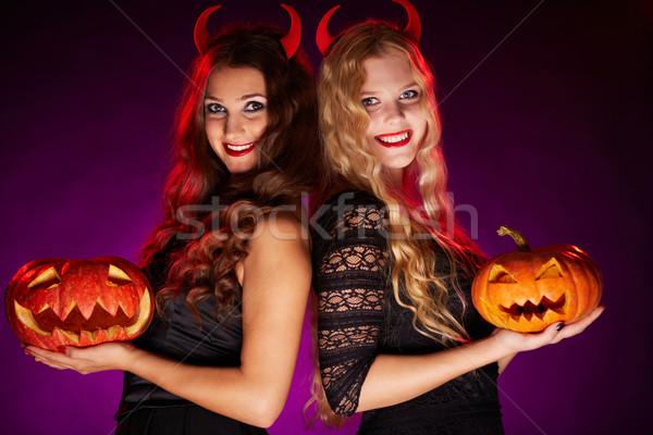 Beautiful witches Stock photo © pressmaster