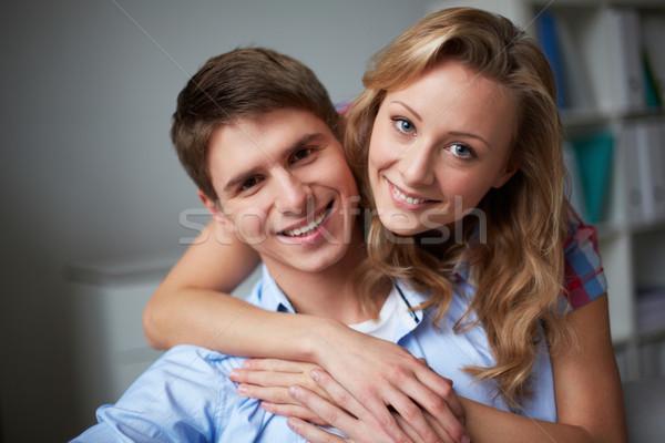 Foto stock: Retrato · amoroso · marido