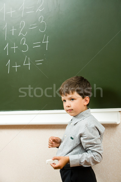 Doing sums Stock photo © pressmaster