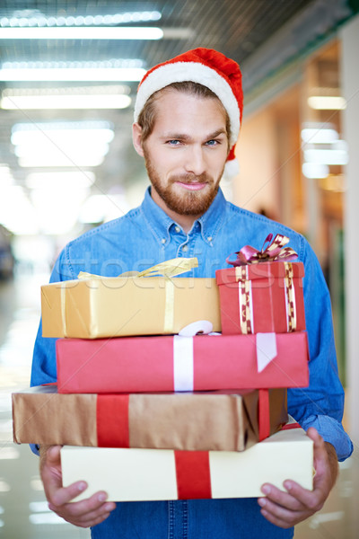 Stock photo: Man shopping for Christmas
