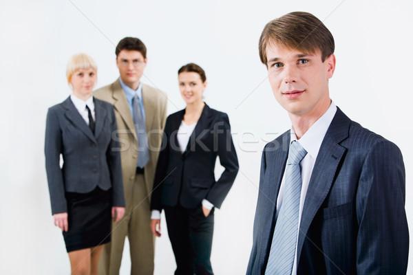 Capo ritratto guardando fotocamera squadra di affari lavoro Foto d'archivio © pressmaster