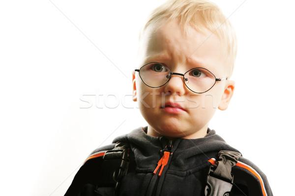 Méchant garçon portrait faible cheveux espace Photo stock © pressmaster