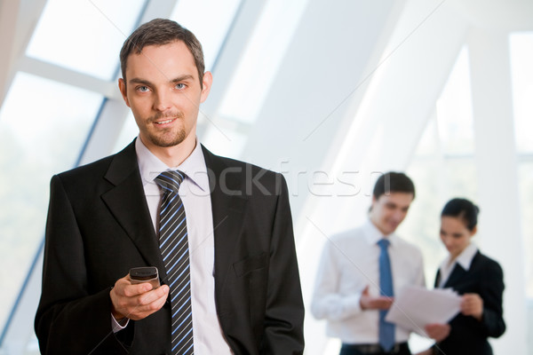 Stockfoto: Knap · werkgever · portret · geslaagd · zakenman · naar
