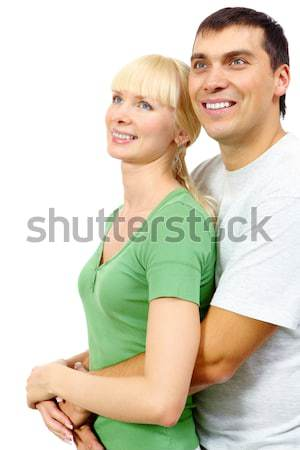 Stockfoto: Omarmen · portret · hartstochtelijk · man · vriendin