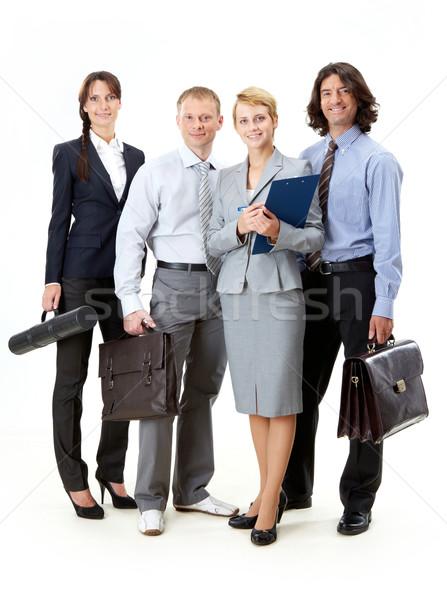 üzleti csoport portré barátságos üzleti csapat pózol kamera Stock fotó © pressmaster
