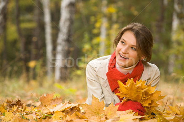 Zdjęcia stock: Jesienią · lasu · portret · dość · młodych · kobiet