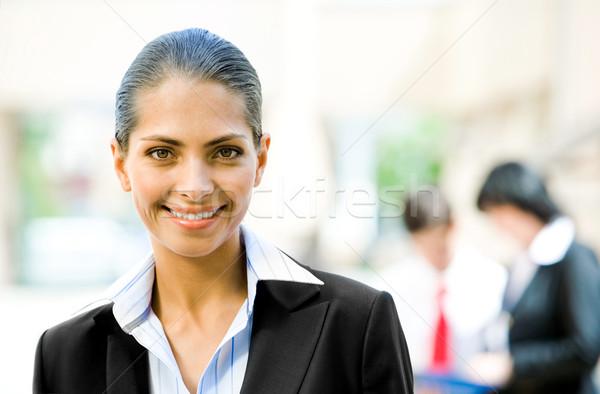 Jonge werkgever portret mooie glimlachend camera Stockfoto © pressmaster
