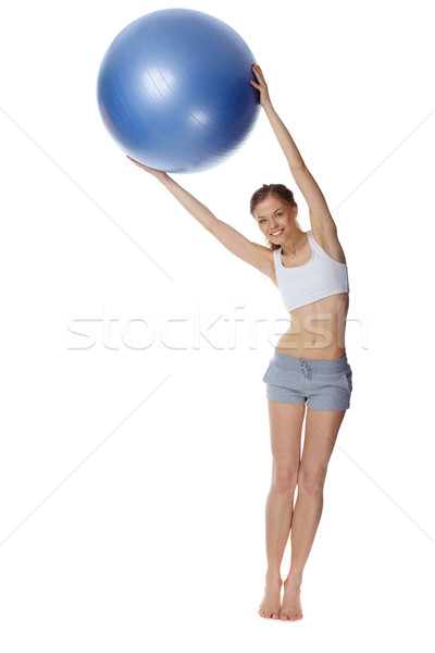 Jimnastik portre kız eğitim jimnastik top Stok fotoğraf © pressmaster