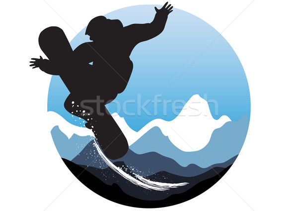 wintry sporty emblem  Stock photo © pressmaster