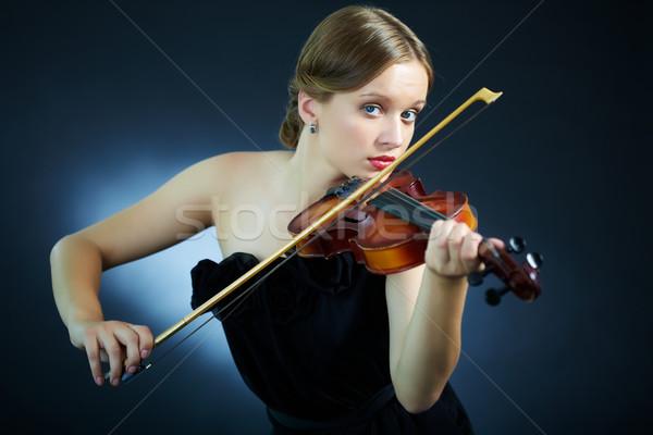 Pretty musician Stock photo © pressmaster