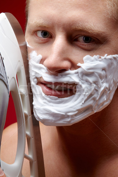 Risky shaving Stock photo © pressmaster