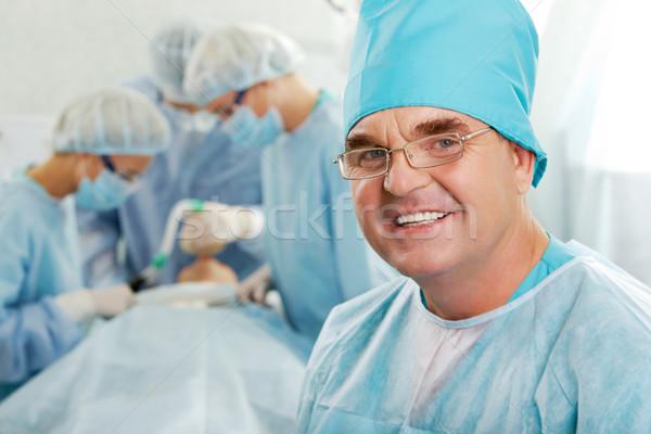 Stock fotó: Sikeres · orvos · portré · boldog · dolgozik · sebészek
