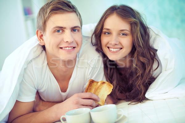 Breakfast in bed Stock photo © pressmaster