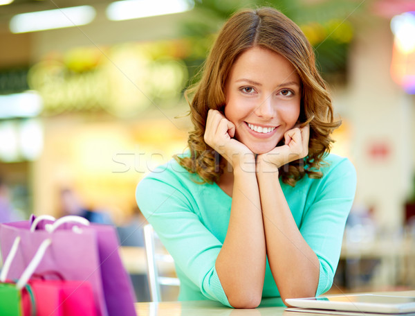 Cute shopper Stock photo © pressmaster