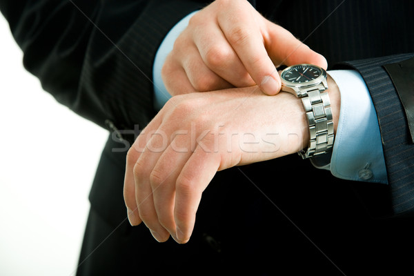 Watch on hand Stock photo © pressmaster