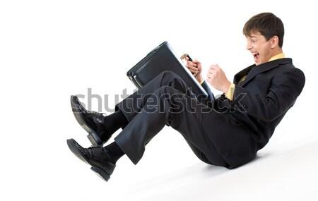 Help immagine urlando imprenditore giù business Foto d'archivio © pressmaster