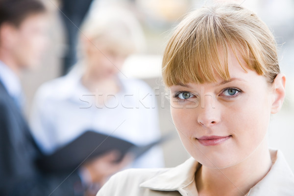 Photo stock: Femme · charmant · dame · travail · environnement