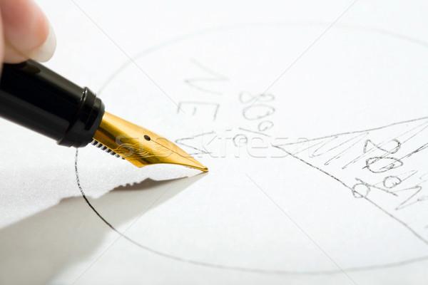 авторучка Дать бумаги бизнеса Финансы Сток-фото © pressmaster