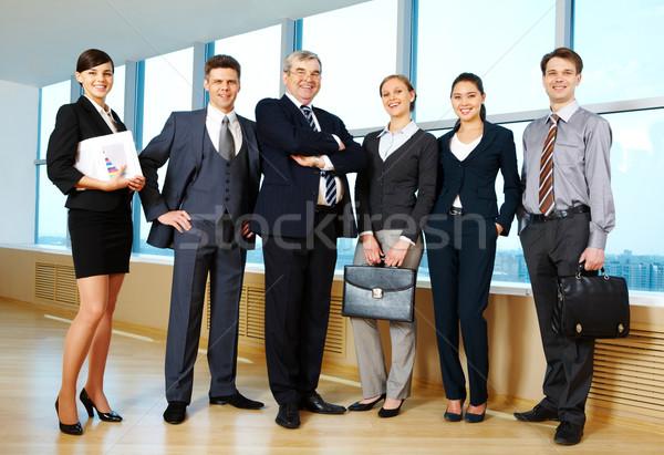 üzleti csapat portré üzleti csoport áll csetepaté néz Stock fotó © pressmaster