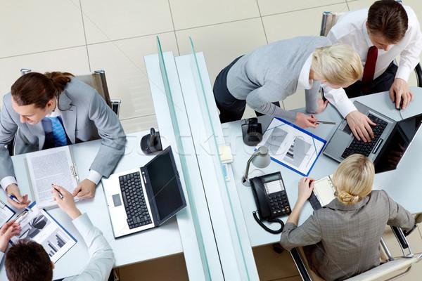Stok fotoğraf: Görüntü · iş · adamları · ofis · adam · toplantı