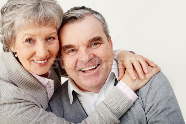 Együttlét portré csinos idős feleség átkarol Stock fotó © pressmaster
