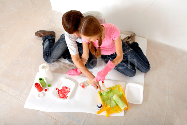 Preparing paints Stock photo © pressmaster
