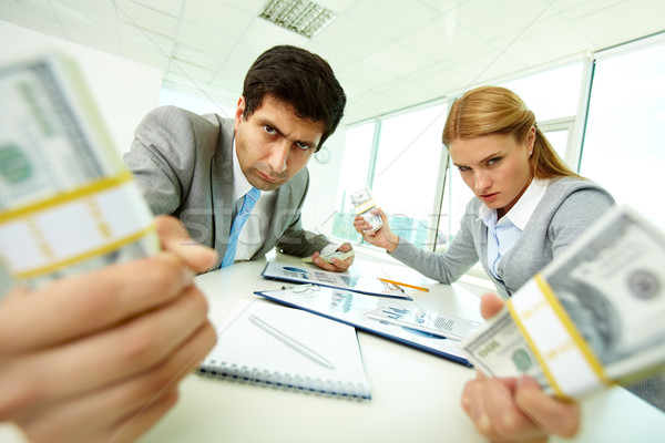 Stock photo: Aggressive accountants