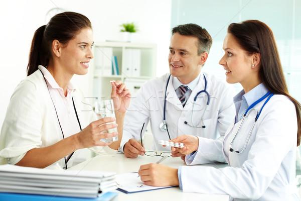 Сток-фото: медицинской · консультация · портрет · пациент · больницу · женщину
