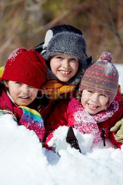 Friends in snow Stock photo © pressmaster