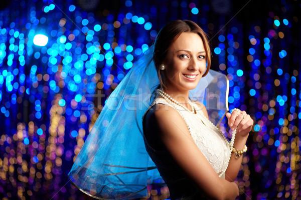 Wkrótce ślub radosny oblubienicy elegancki sukienka Zdjęcia stock © pressmaster