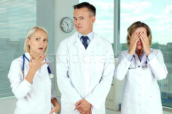 Stock fotó: Komoly · tok · három · fehér · nő · orvosi