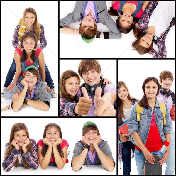 молодой друзей коллаж дружественный подростков случайный Сток-фото © pressmaster