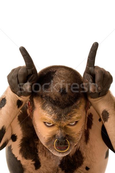 Showing horns Stock photo © pressmaster