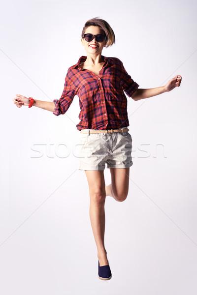динамический портрет вертикальный подростков модный одежды Сток-фото © pressmaster