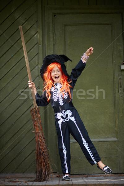 Halloween trick Stock photo © pressmaster