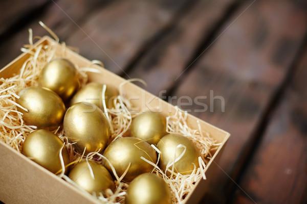 Dorado huevos huevos de Pascua cuadro Pascua primavera Foto stock © pressmaster
