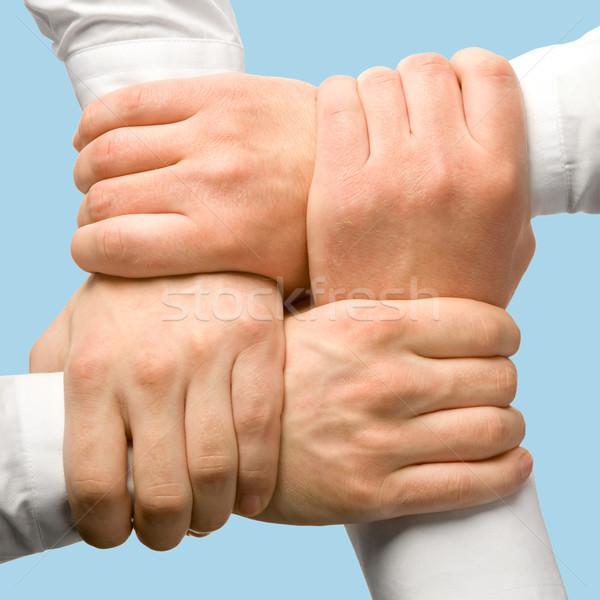Działalności wsparcia Fotografia ludzi biznesu strony sieci Zdjęcia stock © pressmaster