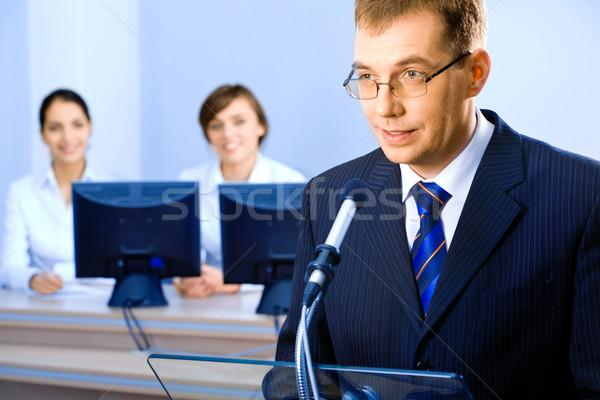 Business speech  Stock photo © pressmaster