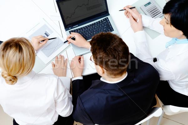Photo stock: Planification · au-dessus · angle · réussi · partenaires · brainstorming