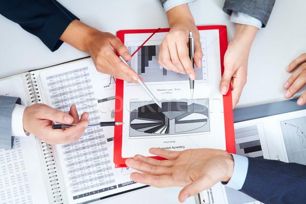 планирования работу мнение Бизнес-партнеры рук Сток-фото © pressmaster