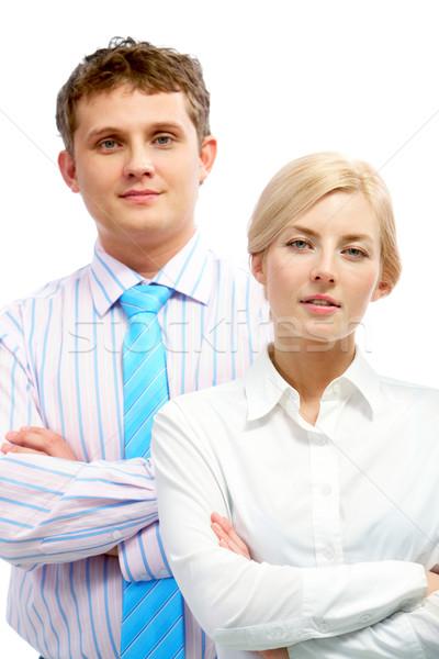 肖像 2 ビジネス 女性 背景 チーム ストックフォト © pressmaster